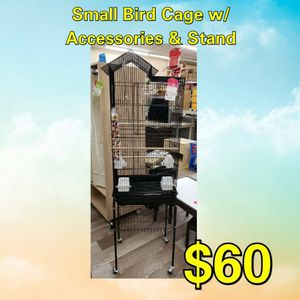 NEW Small Bird Cage W/ Accessories & Stand: Njft Pets for Sale in Burlington, NJ