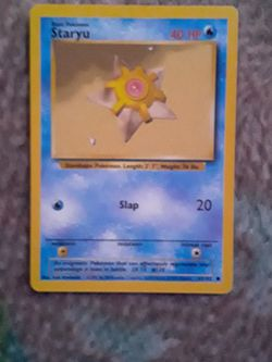 Pokemon Pokemon Card Staryu for Sale in Westland,  MI