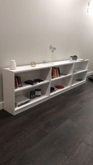 3 white bookshelves for Sale in Atlanta, GA