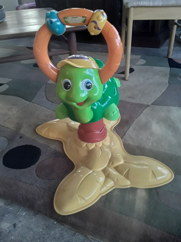 Turtle bouncing light up toddler toy