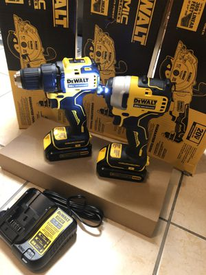 Dewalt Atomic 20-volt Max Lithium-Ion Brushless Cordless Compact Drill/impact Combo Kit (2-Tools) 2 Batteries 1.3ah for Sale in Laurel, MD