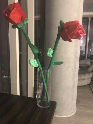 Oversized felt flowers in large vase. for Sale in Nashville, TN