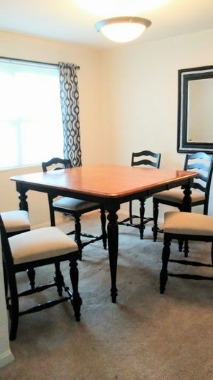 Dining room table very strong with 6 chairs in good condition for Sale in Fairfax, VA