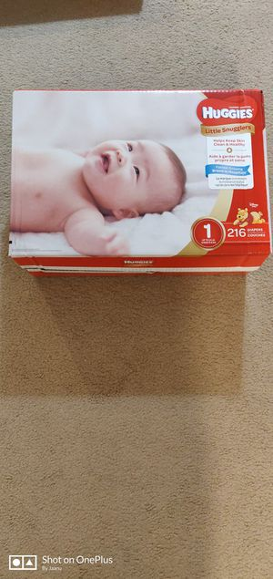 huggies little snugglers size 1 216 count, NEW for Sale in Hilliard, OH