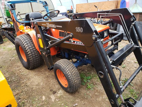 Kioti LB1914 compact tractor backhoe clean low hours for Sale in Plymouth,  CT - OfferUp