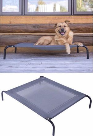 Brand new in box Large Dog Cat Bed Steel Frame Textile Mat Indoor Outdoor Camping Raised Bed Hammock 44x32x7 inches for Sale in Whittier, CA