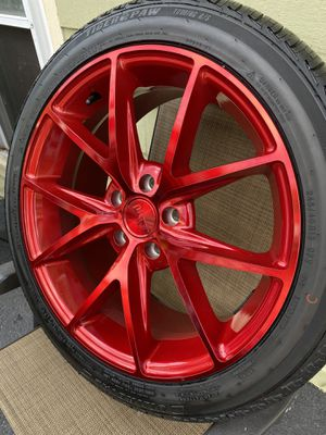 Niche M186 Misano 5x114.3 Candy Red Rims (Set of 4) for Sale in Franklin, MA