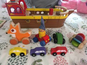 Wooden toy lot (hape) for Sale in Austin, TX