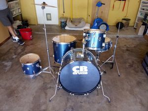 BLUE CB PECUSSION (22-16-14-13-12) AND SWINGSTAR CYMBALS for Sale in Fort Worth, TX
