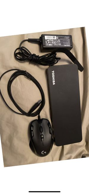 Toshiba thunderbolt 3 laptop dock and new mouse for Sale in Bakersfield, CA