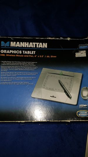 "Manhattan, Graphics tablet, 4"" x 5.5"" for Sale in Mesa, AZ"