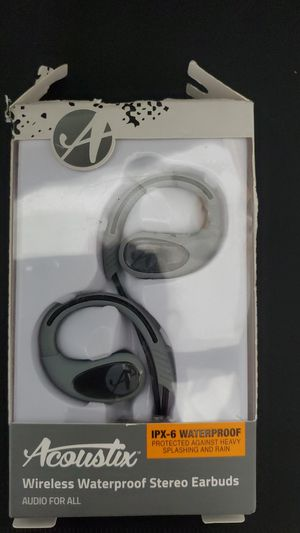 Acoustic wireless waterproof stereo earbuds for Sale in Glendale, AZ
