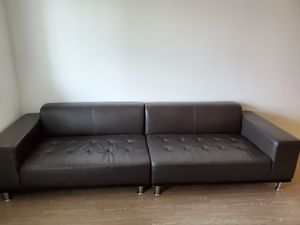 Couch and free ikea coffee table for Sale in Los Angeles, CA