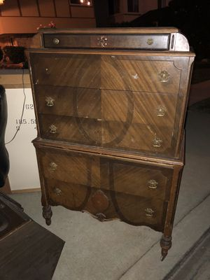 Antique upright dresser for Sale in Los Angeles, CA