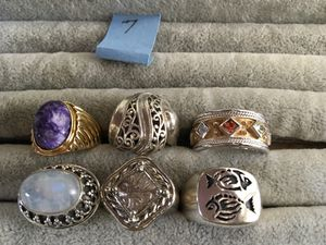 925 rings size 7. $35 ea for Sale in Glen Burnie, MD