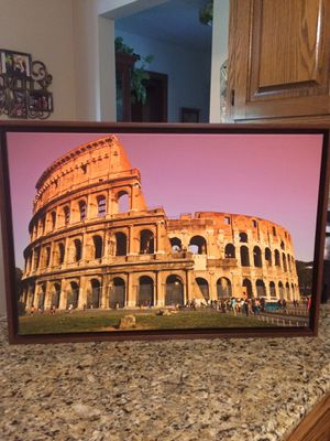 """Framed canvas picture """"The Coliseum """" from National Geographic Collector Series for Sale in Burr Ridge, IL"""