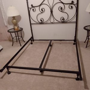 Queen Bed Frame And Back Board for Sale in Canby, OR