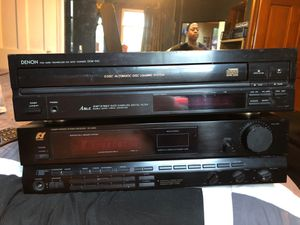 Stereo receiver and denim 5 disc CD player for Sale in Columbus, OH