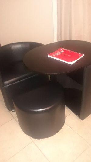 Rollaway desk chair storage footstool and shelves for Sale in Shreveport, LA