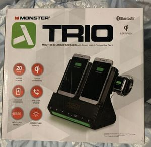 Monster TRIO multi charger speaker. NEW for Sale in Columbia, SC