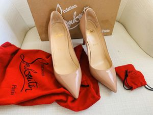 "Mint Christian Louboutin Pigalle 85 Patent Calf Red Bottom Heels Shoes Size 8.5"" US for Sale in Mill Creek, WA"