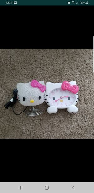 Hello Kitty night Lamp and Wall watch for Sale in Clearwater, FL