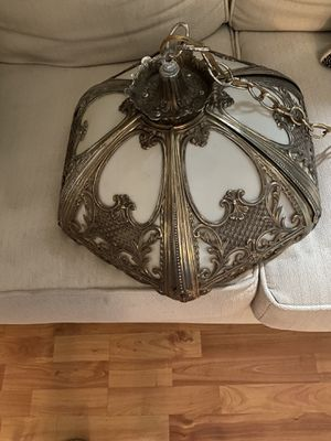 Vintage metal hanging lamp for Sale in Baltimore, MD