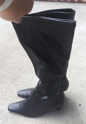 Tall Black Kitten Heel Boots- Size 8 for Sale in Denver, CO