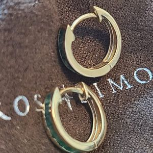 14kt Rose Gols Emerald Hoop Earrings for Sale in Phoenix, AZ