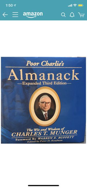 Poor Charlie's Almanac by Charles T. Munger for Sale in Las Vegas, NV
