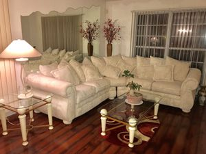 Sectional white couch for Sale in Bolingbrook, IL