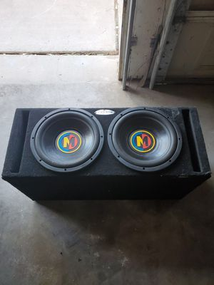 "Memphis Mojo M3 12"" Subwoofers in Ported Box for Sale in Mesa, AZ"