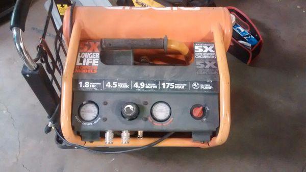 Rigid twin tank air compressor