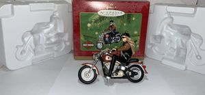 Hallmark Ornament Barbie Doll Harley Davidson On Motorcycle Fat Boy 2001 QXI8885 for Sale in Houston, TX