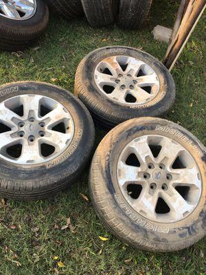 3 18' Ford wheels 1 22' Escalade wheel for Sale in Dallas, TX