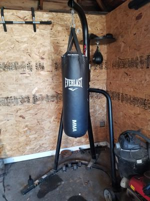 Punching bag, stand, speed bag, exercise equipment for Sale in Mount Prospect, IL