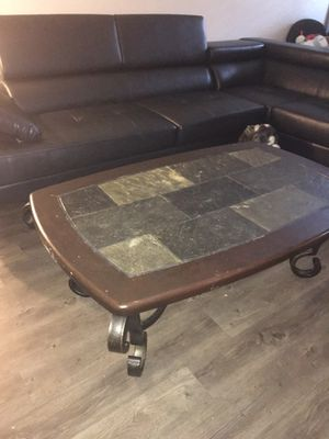 Stone coffee table for Sale in St. Petersburg, FL