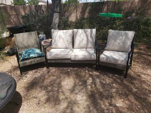 Nice Patio Furniture.... Two Captain Chairs and one Sofa for Sale in North Las Vegas, NV