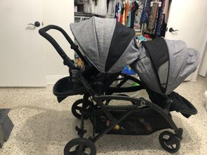Contour Double Stroller in Grey and Black for Sale in Miami, FL