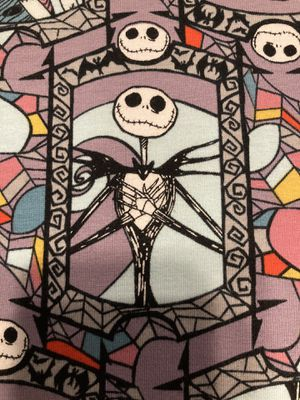 """Stained Glass Nightmare Before Christmas Cowl/Neck Warmer. Knit Fabric - Approximately 13"""" wide by 14"""" long for Sale in Chicago, IL"""