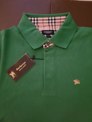 Burberry mens long sleeve polo shirt Green, avaliable in size M, L, XXL. for Sale in Coral Springs, FL