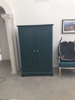 Armoire clothes green color for Sale in Fort McDowell, AZ