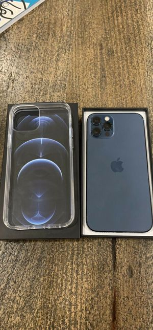 iPhone 12 pro 256gb Pacific Blue with clear case for Sale in Alexandria, OH