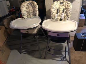 Chicco stack all stages high chairs. for Sale in Portland, OR