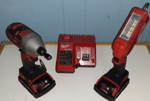 MILWAUKEE M18 IMPACT DRILL & FLASHLIGHT for Sale in Yeadon, PA