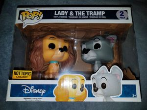 FUNKO POP LADY AND THE TRAMP HOT TOPIC EXCLUSIVE FIGURES/TOY COLLECTIBLES for Sale in San Antonio, TX