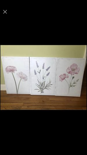 Flowers wall art canvas for Sale in Evanston, IL