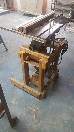 Delta table saw on rolling base - Craftsman Motor for Sale in Painesville, OH