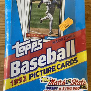 1992 Topps Baseball Wax Box Factory Sealed Cards (36 Packs) for Sale in Huntington Beach, CA
