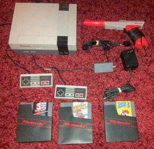 Original Nintendo Nes Gaming Console Set for Sale in Riverside, CA